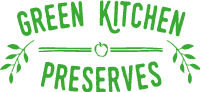 the green kitchen preserves logo on a transparent background